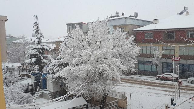 Tufanbeyli'de karla mücadele