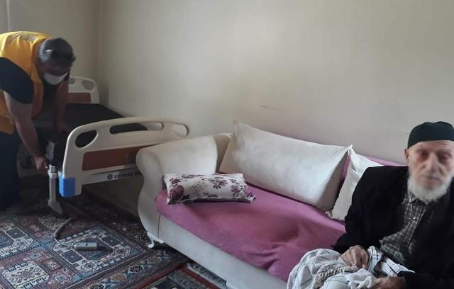 Asırlık çınara hasta yatağı