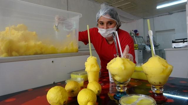 Limon dondurması Maraş dondurmasına rakip oldu