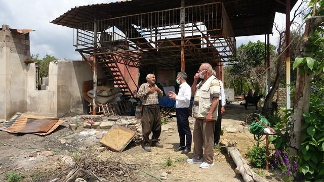 Kozan'da yangın bölgesinde yaralar sarılıyor