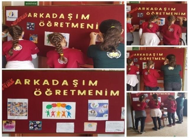 """Yavuzlar Ortaokulu'nda """"Arkadaşım Öğretmenim"""" eTwinning projesi"""