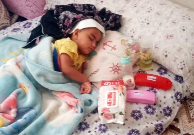 Magandanın vurduğu 2 yaşındaki kız felç kaldı