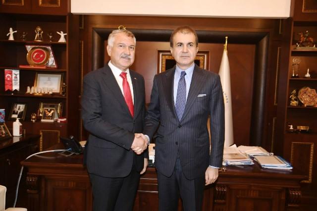 AK Parti Sözcüsü Çelik, CHP'li Adana Büyükşehir Belediyesini ziyaret etti