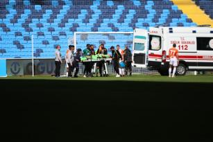 Adanaspor kalecisi Goran Karacic hastaneye kaldırıldı