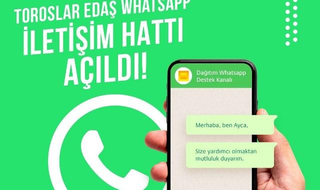 Toroslar EDAŞ'tan WhatsApp Destek Hattı