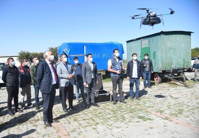 ADANA'DA DRONLA SİVRİSİNEK MÜCADELESİ