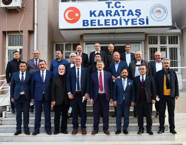 Belediye Başkanlarından Karataş Ziyareti
