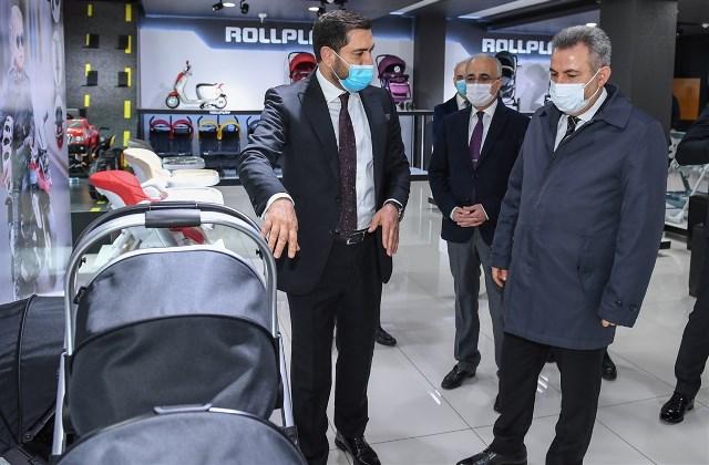 VALİ ELBAN'DAN ÜRETİCİ FİRMALARA ZİYARET