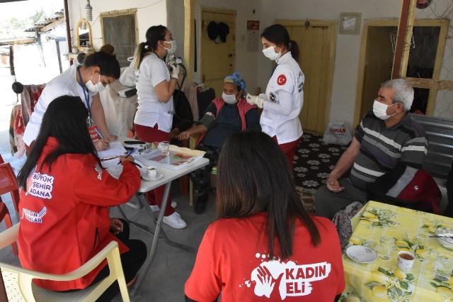 Ceyhan'da Kadın Eli ve Derman ekipleri mahalleler için seferber oldu