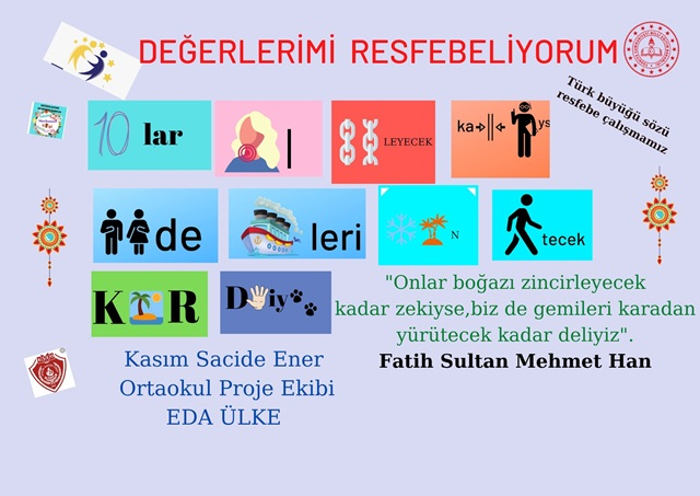 """""""DEĞERLERİMİZİ RESFEBELİYORUM"""""""