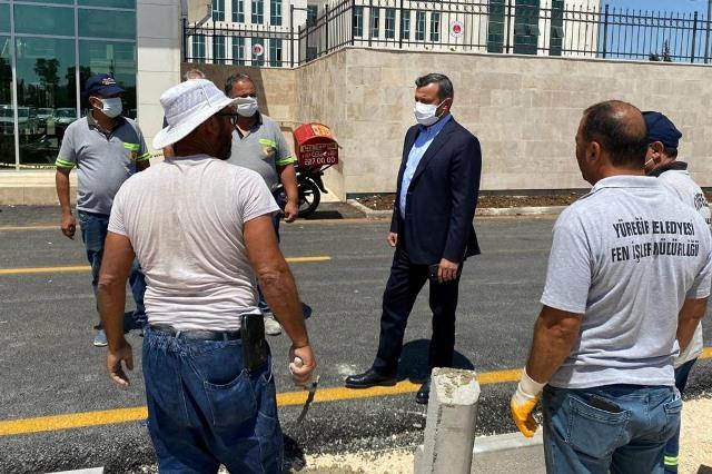 Adana Adalet Sarayı çevresinde hummalı çalışma