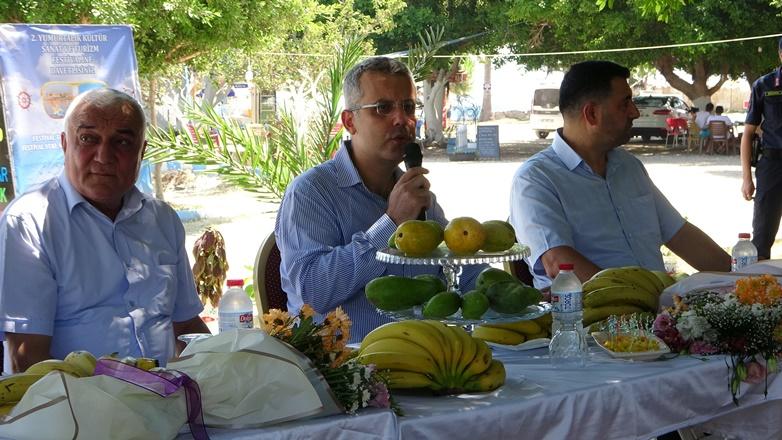 Kültür ve sanat festivalinde muz ve tropik meyve yetiştiricileri yarıştı